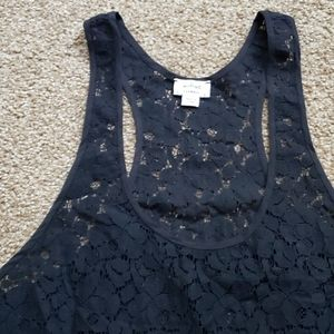 Wilfred Black Lace Racerback Tank top